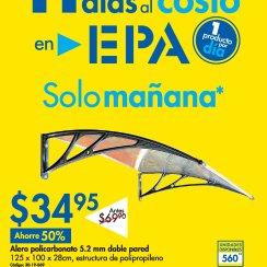 EPA Alero de policarbonato para pared y cubrir ventana o puertas