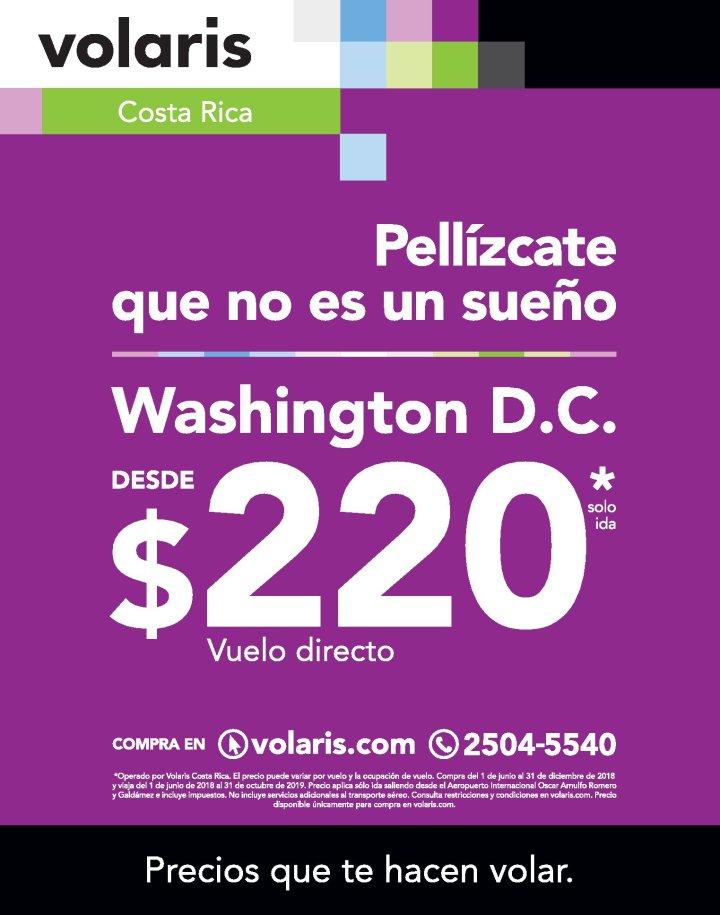 OFERTAS de vuelo barato a Washington DC via VOLARIS
