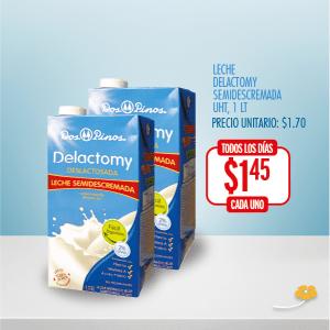 leche delactomy semidescremada two pack