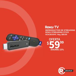 Radioshack ofertas en dispositivo multimedia ROKU TV