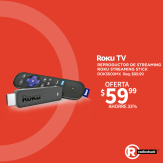 Radioshack ofertas en dispositivo multimedia ROKU TV