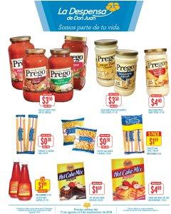 Productos gourmet PREGO en la despensa