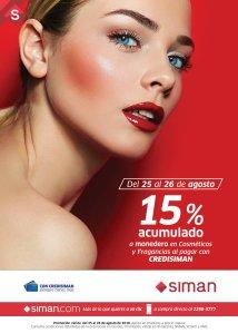 SIMAN fragancias y cosmeticos con descuentos este finde 24ago18