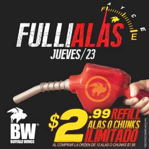 fuliadas de las o chunck en Buffalo Wings El Salvador