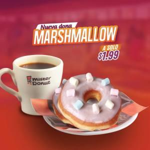 la nueva dona marshmallow de mister donut el salvador