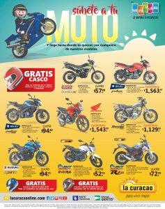 Compra tu MOTO nueva en La curacao y llevate tu casco GRATIS