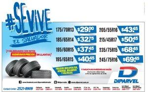 DIPARVEL mas ofertas en llantas para tu carro septiembre 2018