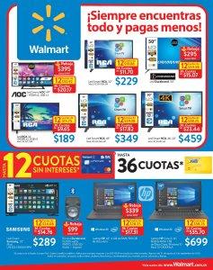 Televisores smart y laptops con descuentos walmart 31ago18