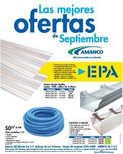 materiales AMANCO en oferta ferreteria epa septiembre 2018