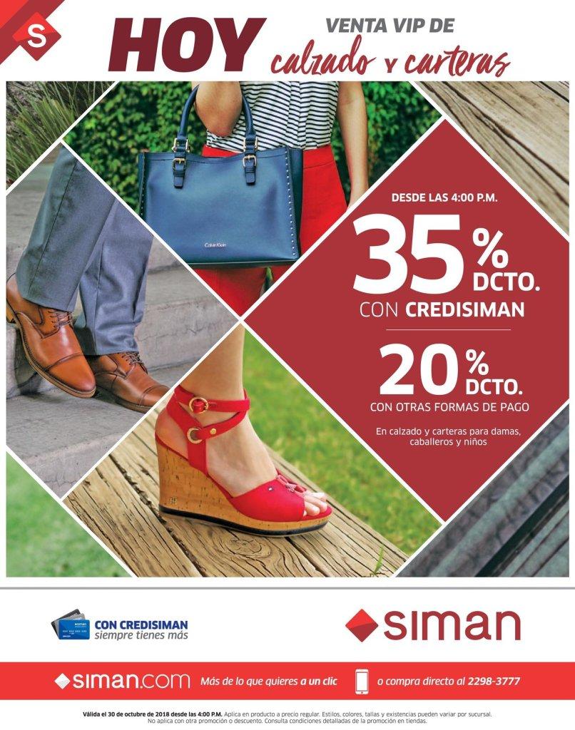 AHORA 30 de octubre venta VIP en calzado y carteras SIMAN