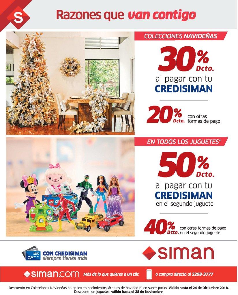SIMAN Descuentos en arbolitos de navidad y jueguetes - 26oct18