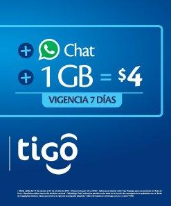 TIGO shop app Whatsapp e internet por 4 dolares
