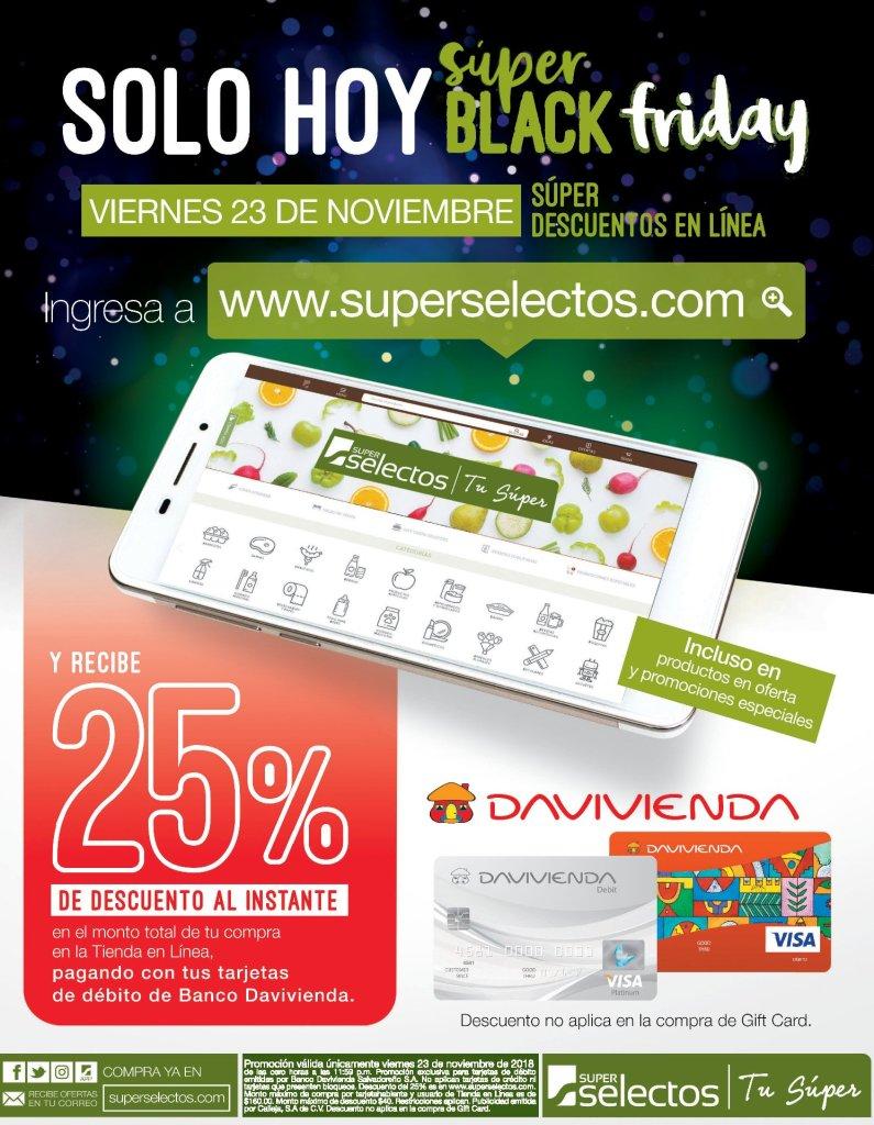 AHORA en super selectos online BLACK friday 2018 ofertas