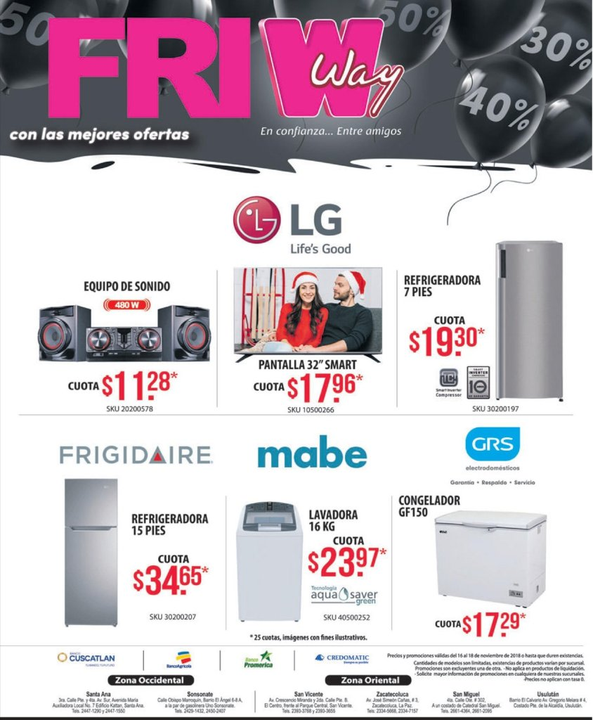 Agencias WAY ofertas blackfriday 2018 el salvador