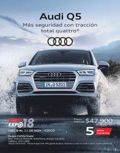 Audi Q5 2019 elegancia y poder auto expo 2018