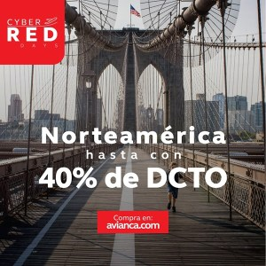 Avianca NORTE AMERICA Descuento black friday 2018