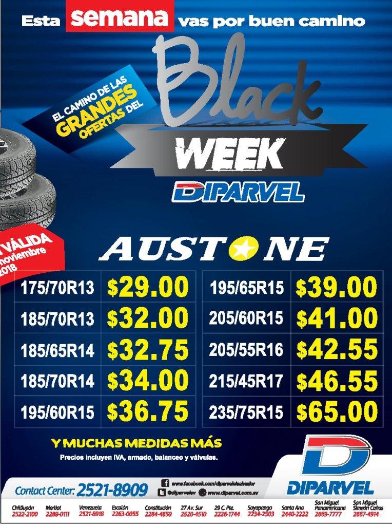 Black week en llantas nuevas DIPARVEL