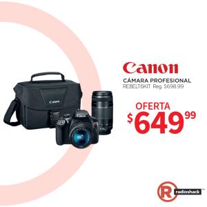 CAMARA profesional marca canon rebelt 6 kit