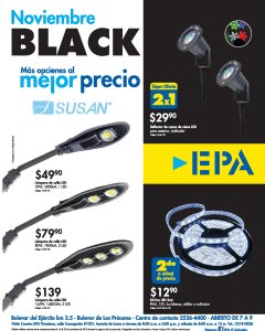 Ferreteria EPA Black Friday 2018 super ofertas LUNCES LED