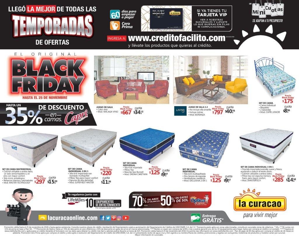 La Curacao Descuentos Black Friday 2018 camas y muebles