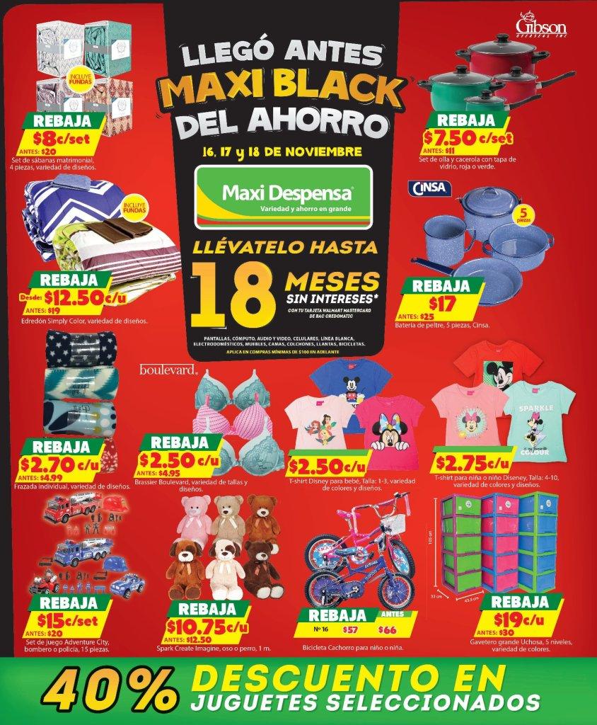 Maxi Despensa ofertas BLACK FRIDAY 2018 juguetes