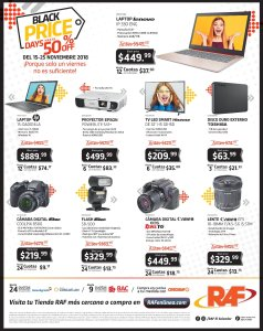 Ofertas Black Friday 2018 RAF el salvador