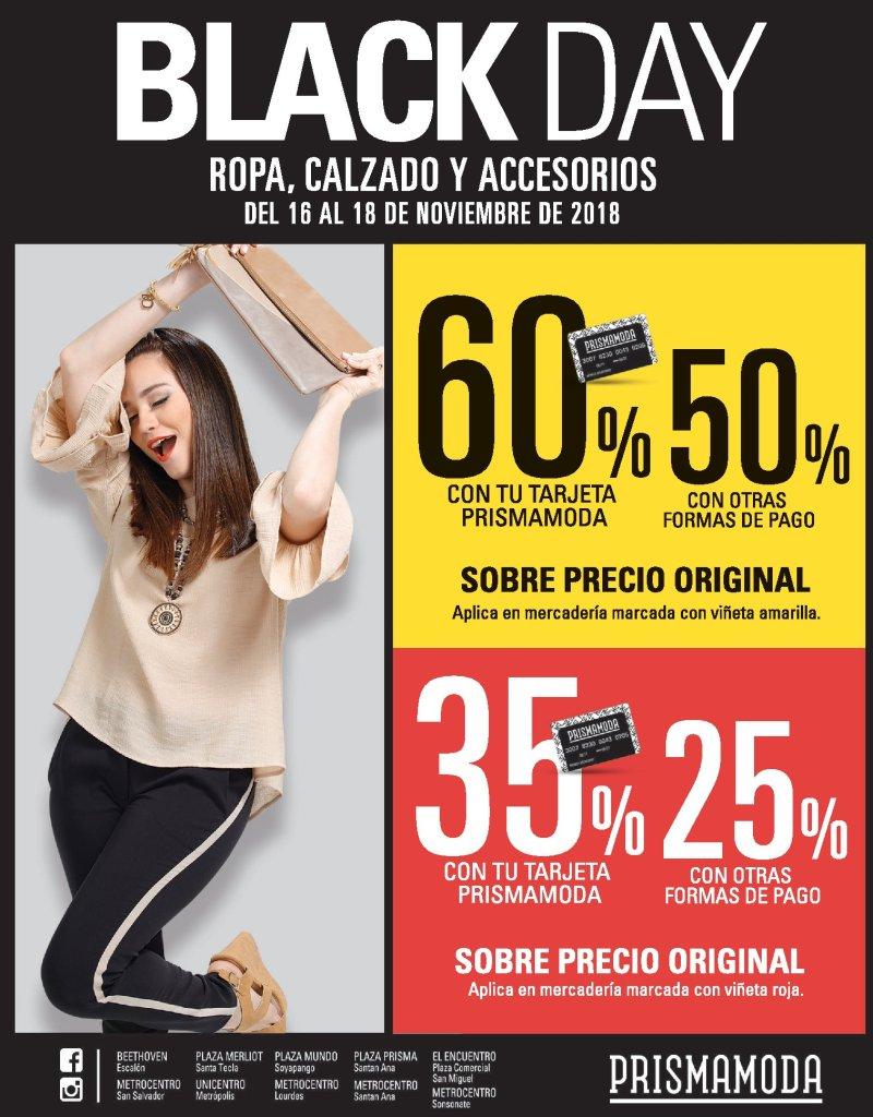 Prisma Moda Black Friday 2018 ofertas ROPA CALZADO ACCESORIOS