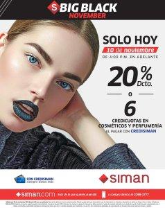 SIMAN SOLO HOY 10 de noviembre november black en cosmeticos