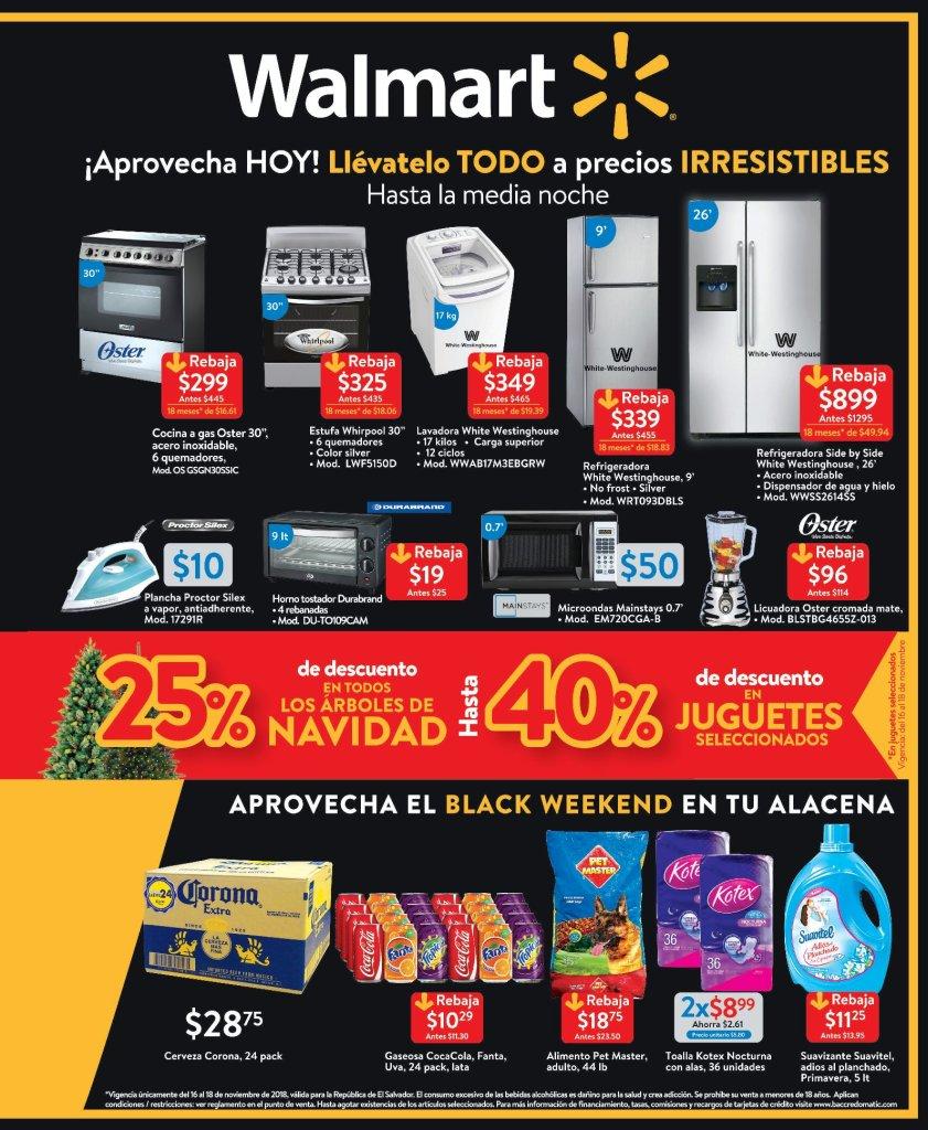 Walmart Black Weekend 2018 aqui todas Promociones disponibles