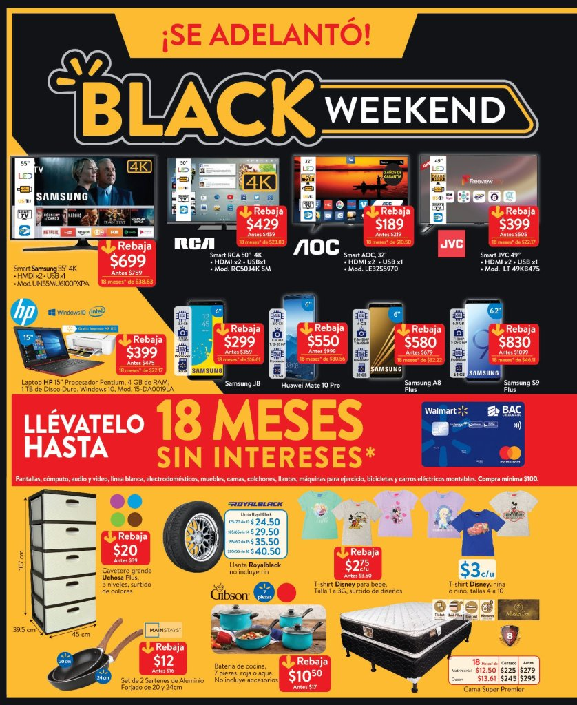 Walmart Black Weekend 2018 catalogo de ofertas