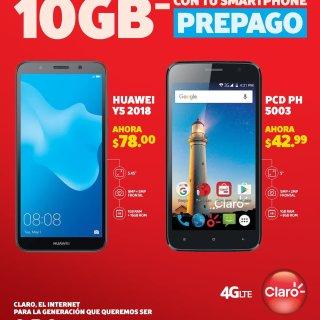 CLARO Smartphone prepago con 10 GB de internet 4g LTE