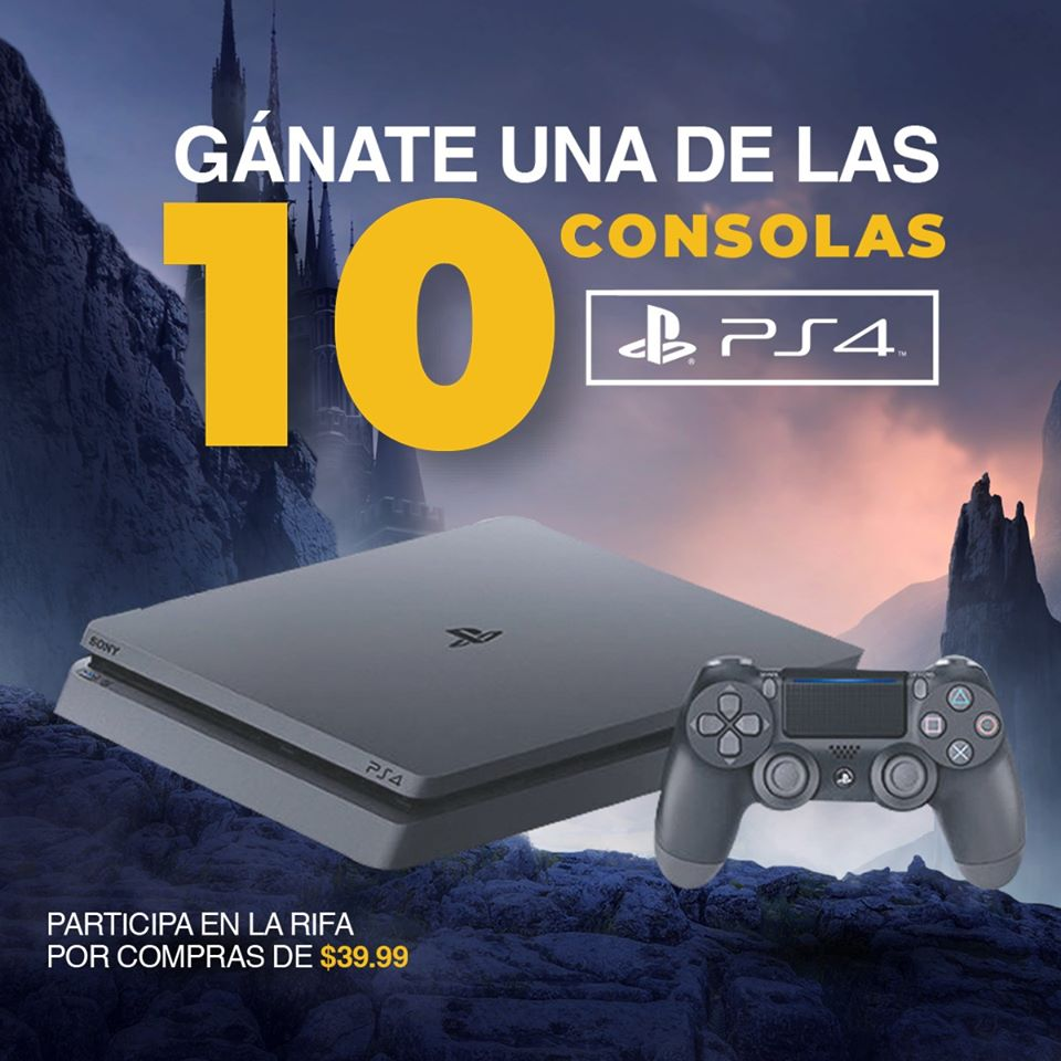 GANA una consola video games PS4 Radio Shack El salvador 2019