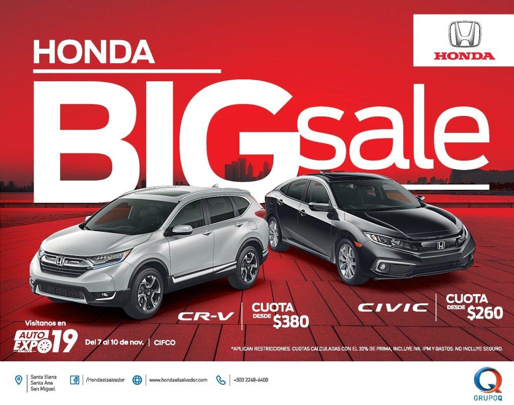 HONDA Civic 2020 and CR-V big blackfriday SALE 2019