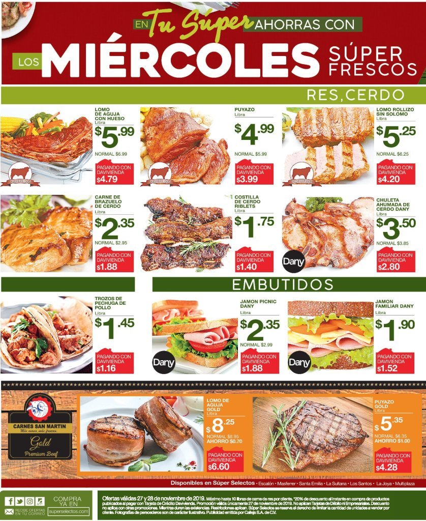 Miercoles frecos ofertas blackfriday superselectos - 27nov19