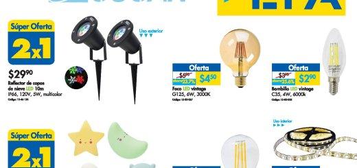 Promociones en iluminacion LED ofertas ferreteria EPA - 22nov19