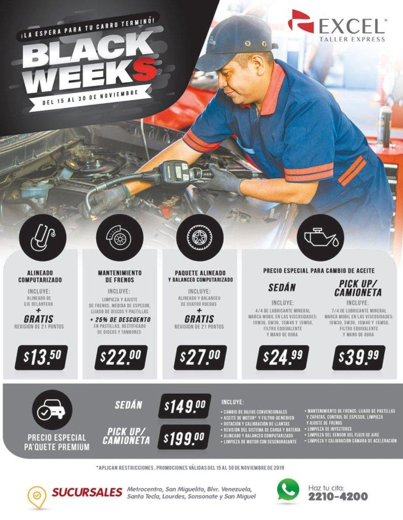 mantenimiento de carros con descuentos BLACK WeekS 2019