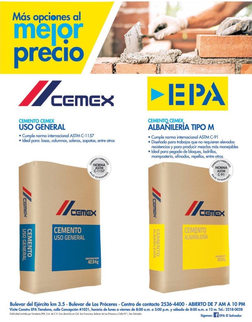 Materiales-de-construccion-CEMENTO-CEMEX-tipo-M-epa-el-salvador
