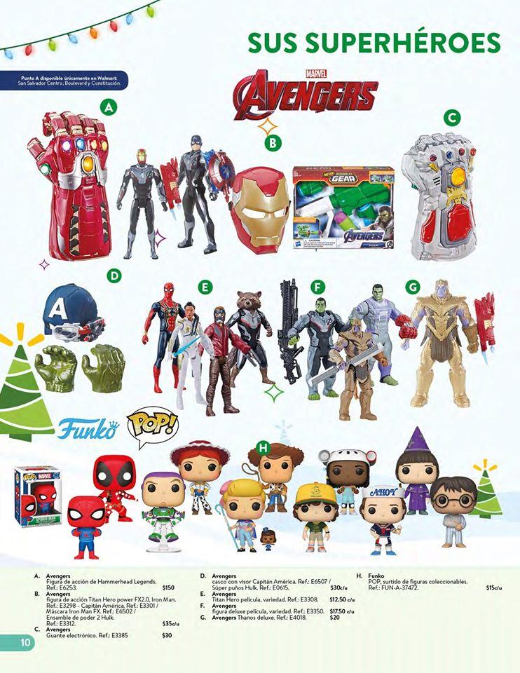 toys AVENGERS collection WALMART el salvador Navidad 2019