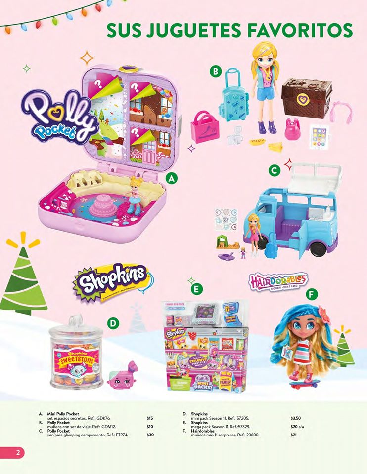 toys POLLY POCKETS collection WALMART el salvador Navidad 2019