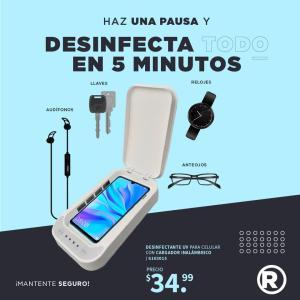 Protege tu celular y desinfectalo