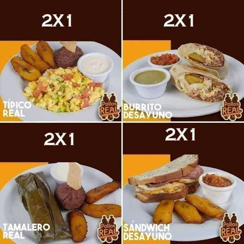 Descargar menu de desayunos pollos real promocion 2x1 agosto 2020