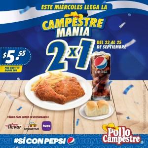 Pollo Campestre MANIA 2×1 (septiembre 2020)