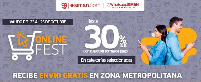 SIMAN Descuentos online fin de semana 25 octubre 2020