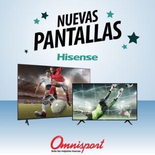 Compra online televisores y pantallas HISENSE almacenes omnisport noviembre 2020