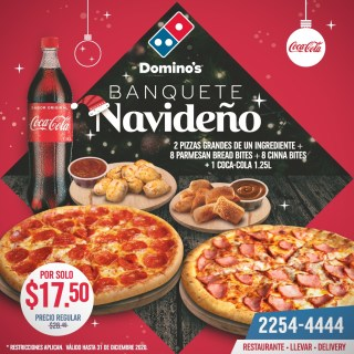 DOMINOS-PIZZA-el-salvador-Banquete-navideno-2020