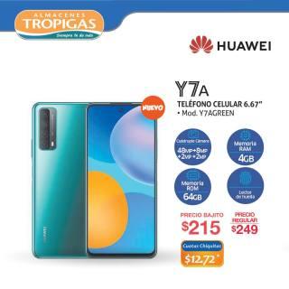 Ofertas telefono celular huawei Y7A 2021 el salvador