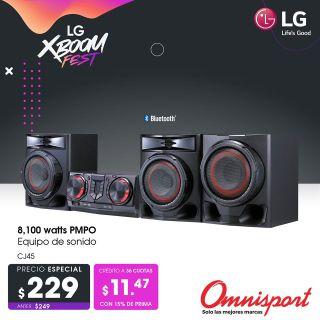 Equip de sonido LG de potencia alta y gran calidad 2021 omnisport