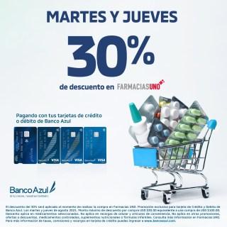 PROMOCIONES CON BANCOS Y TARJERTAS DE CREDITO FARMCIAS UNO EL SALVADOR