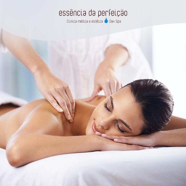 Massagem de relaxamento + tratamento de cromoterapia