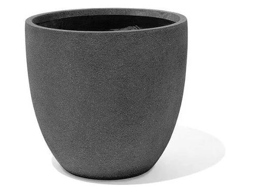 Conjunto 3 Vasos Cinzento Escuro